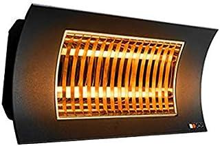 FARHO Radiador Infrarrojos Oasi KUARZO Negro · Calefactor Infrarrojos para Exteriores con Elementos de Calor en Carbono IR B de bajo Resplandor · 1000 ó 2000 Watios