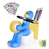 The Multi-Functional Office Supply Station Desk Accessory Holder-Memo Pad Holder,Paper Clip Storage,Tape Dispenser,The Most Popular Emojis Stickers Emojistickers