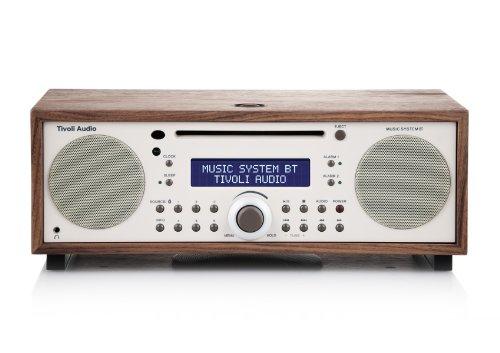 Tivoli MSYBT-1460-EU Music System BT Bluetooth UKW/MW/CD 2.1 Lautsprechersystem walnuß/beige