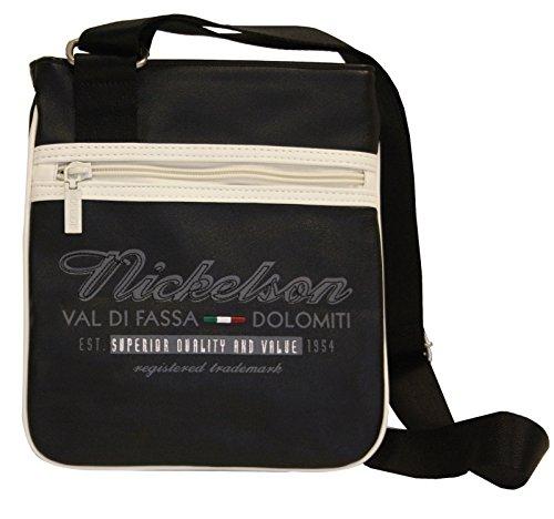 Nickelson Handtasche Schoulder Bag Umhängetasche Tasche Schultertasche Crossbag schwarz