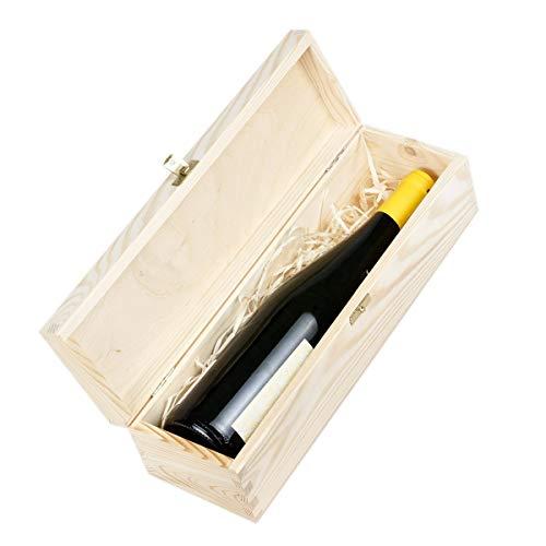Amazinggirl Cassetta In Legno - Scatole Per Bottiglie Legno Vino Vuote Scatola Cassette Vino Confezione Regalo