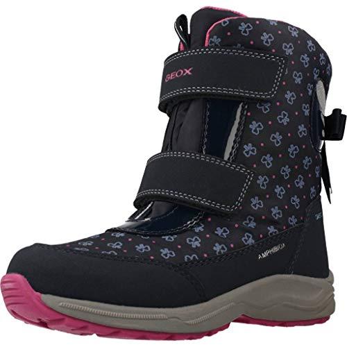 Geox J KURAY Girl B ABX A, Botas de Nieve para Niñas, Azul (Navy C4002), 30 EU