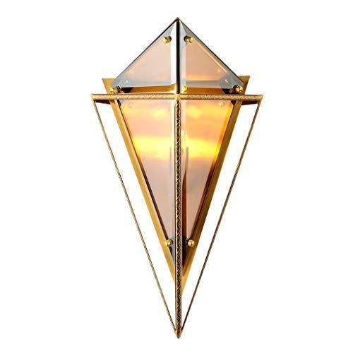 Lampade da parete Illuminazioni per pareti interni Lampada da parete tridimensionale di lusso di colore chiaro Soggiorno Corridoio Letto da letto Camera da letto Villa Nordic Lampada da parete in vetr