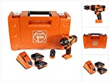 FEIN ASB 18 Q 71132364000 - Taladro atornillador inalámbrico (18 V, 60 Nm, incluye 2 baterías de 3...