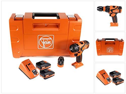 FEIN ASB 18 Q Akku Schlagbohrschrauber 18V 60Nm QuickIN Bohrfutter (71132364000) Set in Koffer mit 2x 3,0 Ah Akku und Lader