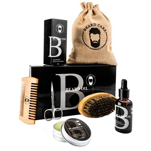 LB Products™ Baardverzorging set 2 l Baardolie l BaardBalsem l Baardkam l Baardborstel I Giftset I Geschenk set I voor Mannen I Baardgroei I Baard | Baardset | Kado man | Cadeau voor hem