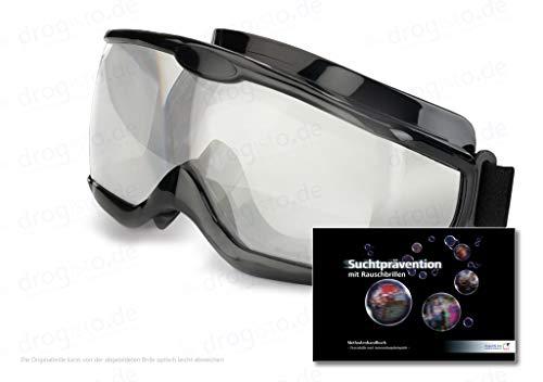 ORIGINAL Rauschbrillen - Alkoholbrille Tagversion ca. 1,3 Promille inkl. 123 - seitigem Methodenhandbuch zur Suchtprävention mit Rauschbrille, mit praktischen Anwendungsbeispielen