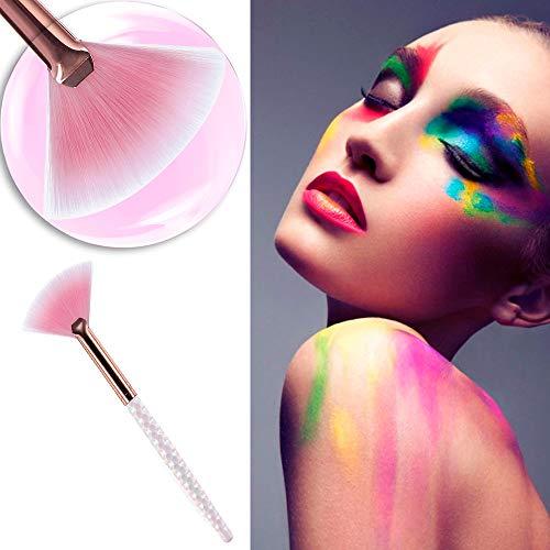 LYYCEU 5 PCS Make Up Brush Foundation cosmétiques Correcteur Fard à Joues Fard à Joues en Poudre surligneur Brosse E