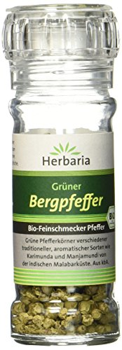 Herbaria Bergpfeffer grün, 1er Pack (1 x 25 g Glasmühle) - Bio