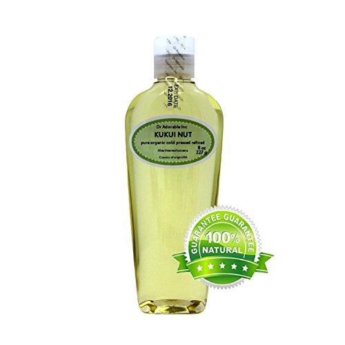 Aceite orgánico de nuez de Kukui prensado en frío 100% puro 8 onzas