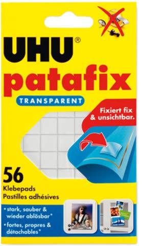 UHU® patafix - Adesivi trasparenti, rimovibili, 56 pz