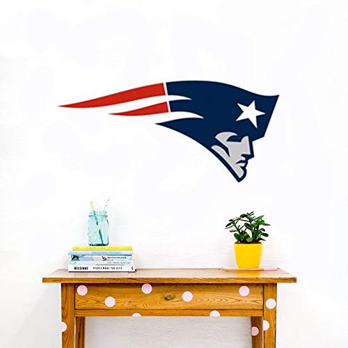 Wandaufkleber Wandtattoo Wohnzimmer New England Patriots Aufkleber - Fußball Team Logo Wandbild Dekor - New England Patriots Aufkleber