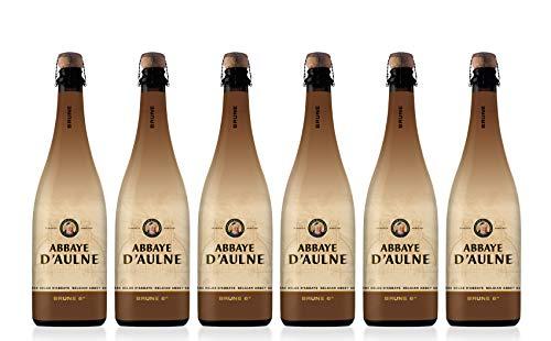 Abbaye D'Aulne - Cerveza de Abadia Belga Brune - Pack de 6 Botellas de 75 cl