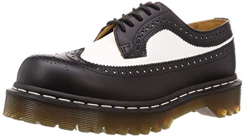 Dr. Martens Womens 3989 Brogue Bex 5-Eyelet Black White Leather Shoes 40 EU