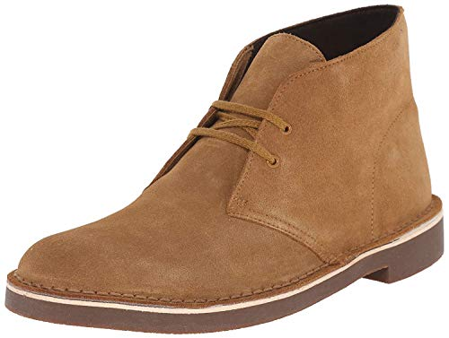 Clarks Men's Buschare 2 Chukka Boot, Wheat Suede, 10 M US