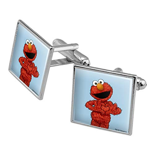 GRAPHICS & MORE Sesame Street Vintage Elmo Square Cufflink Set - Silver or Gold