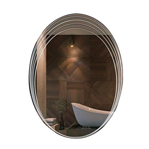 Household Necessities/spiegel, ovaal, hangend, spiegel rond 60*80CM zilver.