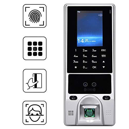 Control de Acceso, reconocimiento de Huellas Dactilares biométrico Facial Sistema de Asistencia con Tarjeta de identificación Pantalla a Color Cámaras duales para Oficina