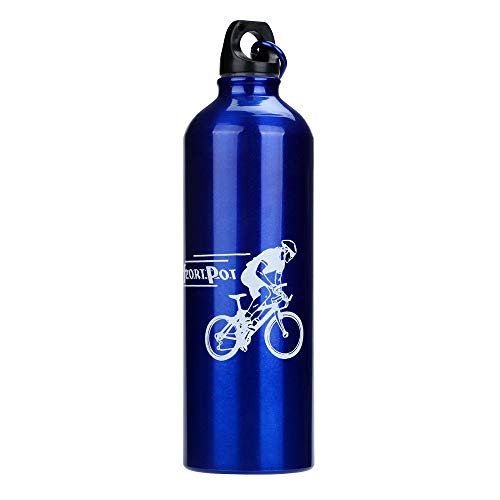 Durable Stainless Steel Water Bottle Kettle with Leak Proof Lid and O-ring, Portable Non-toxic for Kids&Adult,Outdoor Camping Running Cycling (Blue)