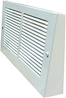 White Projection Baseboard Return Grill - 6 Sizes Avail. (30