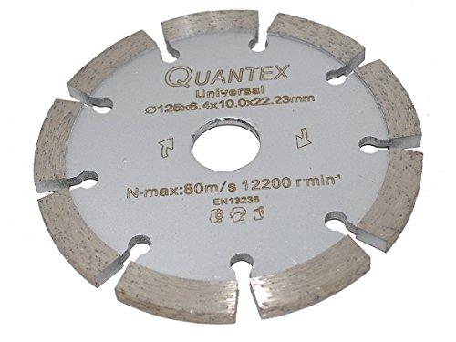 Diamant Frässcheibe Ø 125 mm Segmentstärke 6,4 mm, Fugenfräser für Mauerwerk und Putz