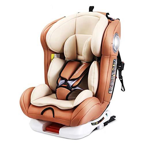 WWLONG Cómodo Asiento de automóvil para niño/niño,Asientos de Seguridad para niños para la Parte Trasera del automóvil,Interfaz ISOFIX Asiento Elevador para niños,Puede Sentarse y acostarse