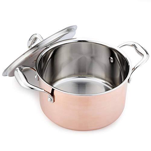 ZIXERN SuppentopfKüchenbedarf 304 Edelstahl Kochtopf VerdickungspfanneGeeignet Für Hausmannskost