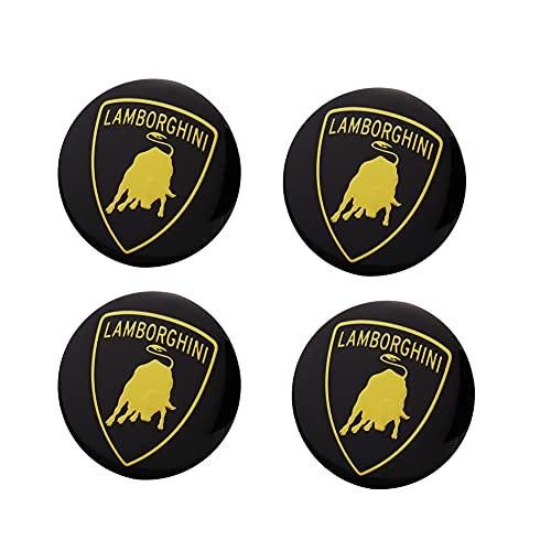 BAQIU 4pcs 56mm hochwertige Aluminiumlegierung Radmitte Kappe Emblem Abzeichen Aufkleber für Lamborghini Auto Styling Zubehör
