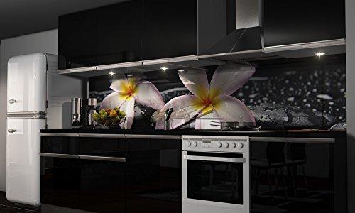 """Küchenrückwand Folie selbstklebend """"Orchidee"""" Klebefolie Dekofolie Spritzschutz Küche verschiedene Größen"""