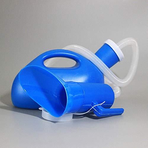 Vrouwelijke Urine Fles, 2000Ml Unisex Pee Fles Vrouwelijke urineren apparaat Mobiele Toilet met Vrouwelijke Adapter voor Ziekenhuis Camping Auto Reizen203 Blue Tube Length 1.0 M 2000 Ml