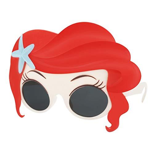 Baosity Red Hair Sirena Gafas Festival Novedad Fiesta Niños Gafas Disfraz Disfraz