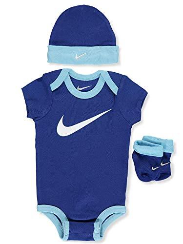 Nike Baby Boys' 3-Piece Layette Set - Navy Blue, 0-6 Months