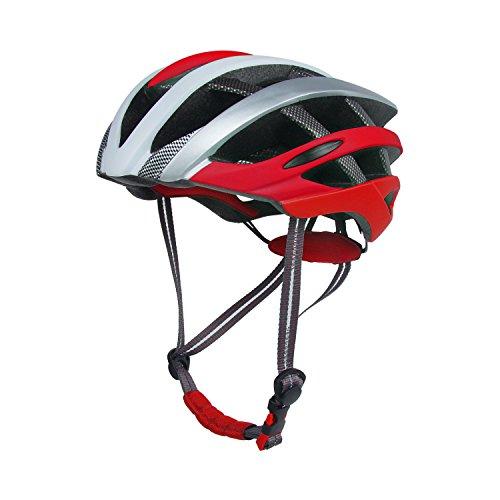 Vihir FahrradHelm Leichtgewicht Mountainbike-Helm Sport Mode FahrradHelm Einstellbar Geeignet für Männer und Frauen 57-62 cm (046-Rot)