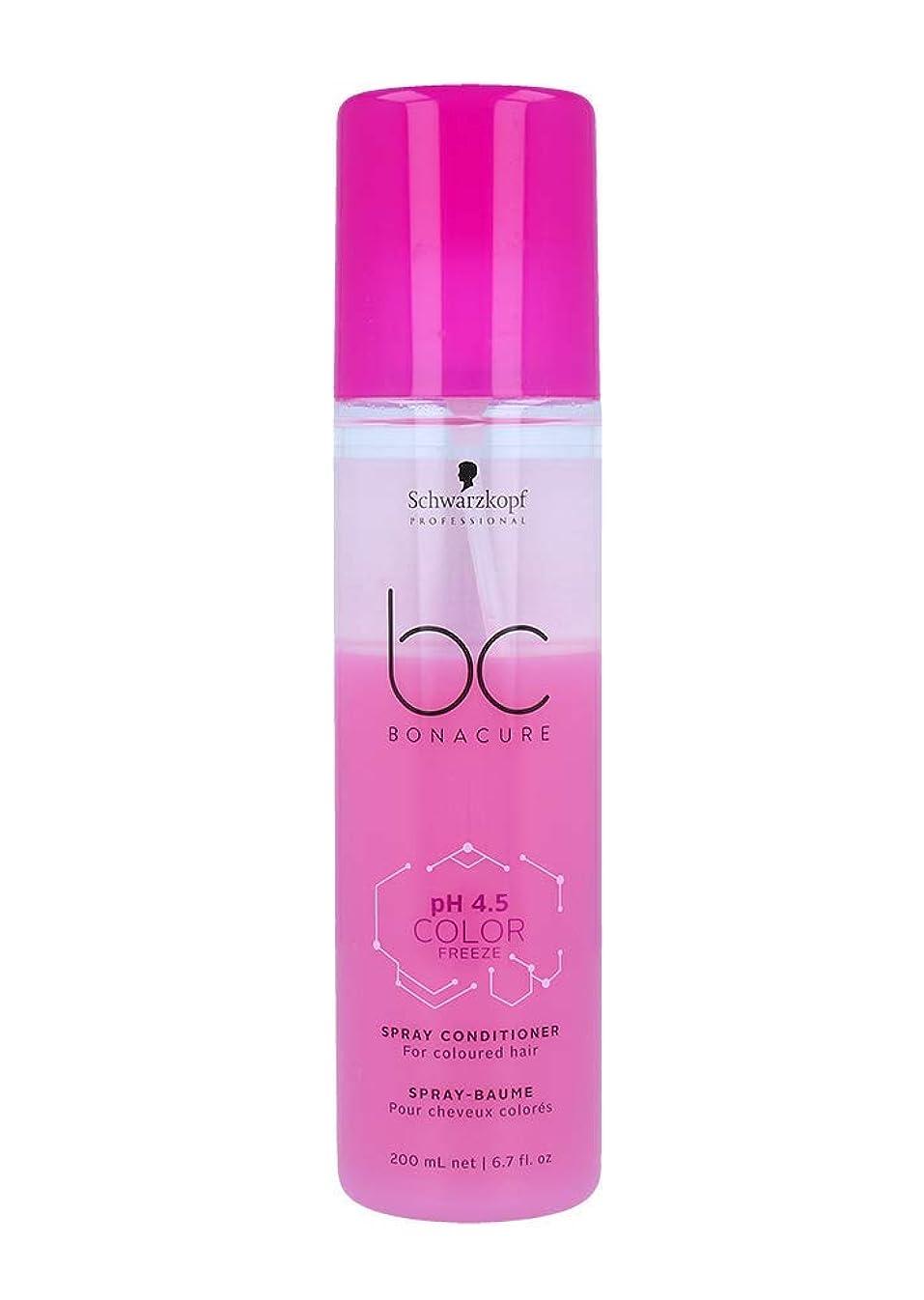 飛行機壮大なテープシュワルツコフ BC pH 4.5 カラー フリーズ スプレー コンディショナー Schwarzkopf BC Bonacure pH 4.5 Color Freeze Spray Conditioner For Coloured Hair 200 ml [並行輸入品]