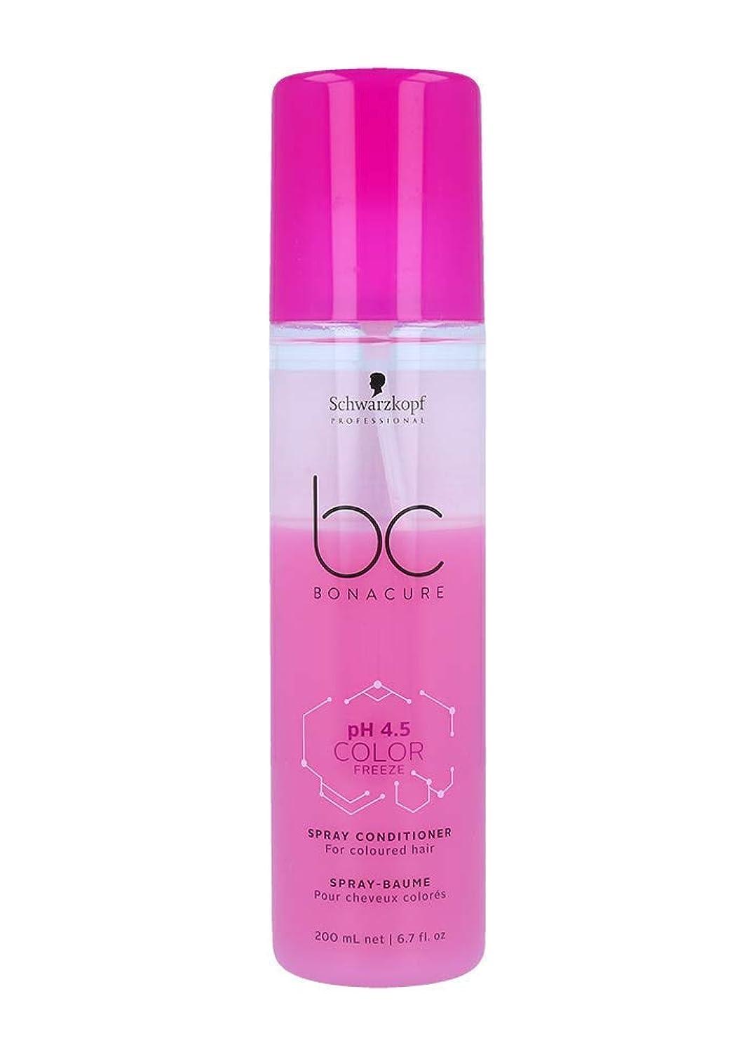 計器こねる腐ったシュワルツコフ BC pH 4.5 カラー フリーズ スプレー コンディショナー Schwarzkopf BC Bonacure pH 4.5 Color Freeze Spray Conditioner For Coloured Hair 200 ml [並行輸入品]