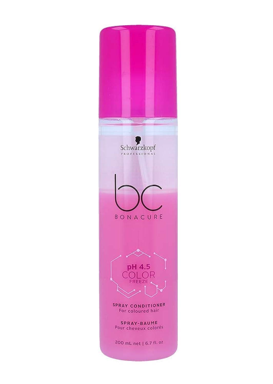 ビルダー残忍な毎年シュワルツコフ BC pH 4.5 カラー フリーズ スプレー コンディショナー Schwarzkopf BC Bonacure pH 4.5 Color Freeze Spray Conditioner For Coloured Hair 200 ml [並行輸入品]