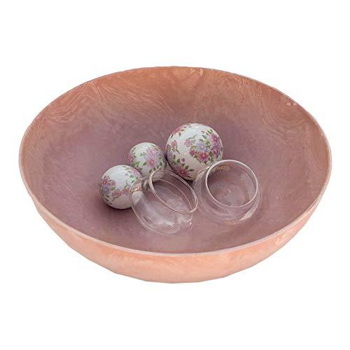 Gartenzaubereien Miniteich rosa Rosenkugel, komplett Set 1 mit Deko