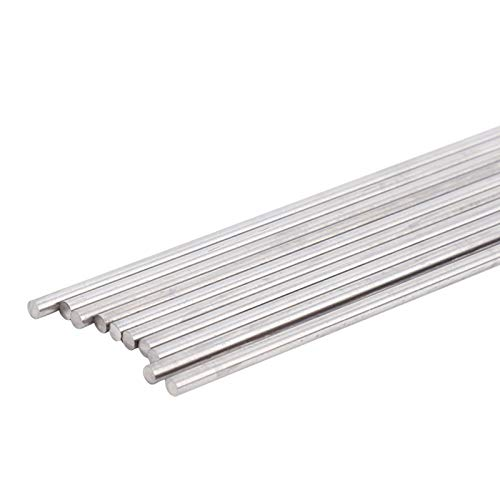 Electrodo de tungsteno de varilla, tungsteno de soldadura de alta calidad, 2.4 mm 10 piezas duradero para soldadura industrial