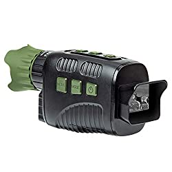 """Coolife Night Vision Monocular, 656ft Infrared Night Vision Range and HD Image 960P Video, 2.31"""" TFT LCD for Spotting Hunting with 32GB Card"""