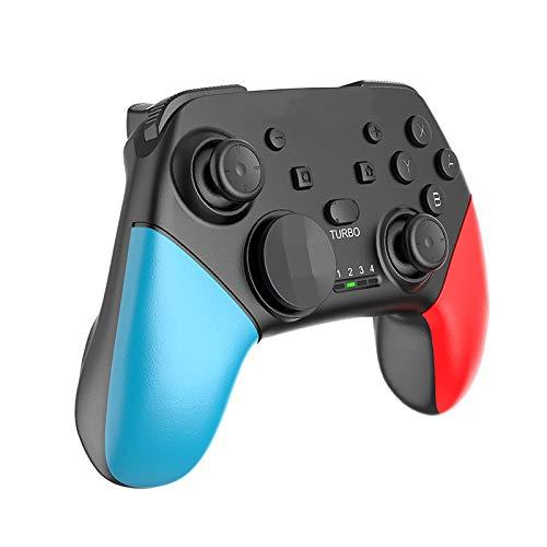 WEUN Controlador de Juegos de PC, Gamepad de Videojuegos, con Doble Joystick, Motores de vibración, Cable USB de 7.2 pies, con Ventanas de PC, PS3, Caja de televisión de Android Compatible,Azul