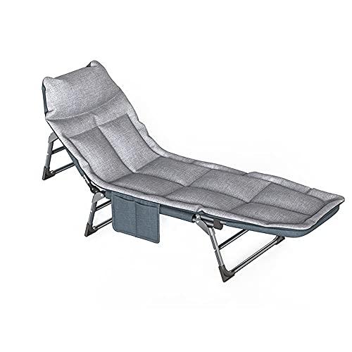FUFU Tumbonas Jardin Exterior Patio reclinable Plegable Sol Lounge Chaise Lounge con 5 Posiciones Respaldo Ajustable y Almohada cómoda para el pórtico de jardín al Aire Libre, Soportes duraderos par