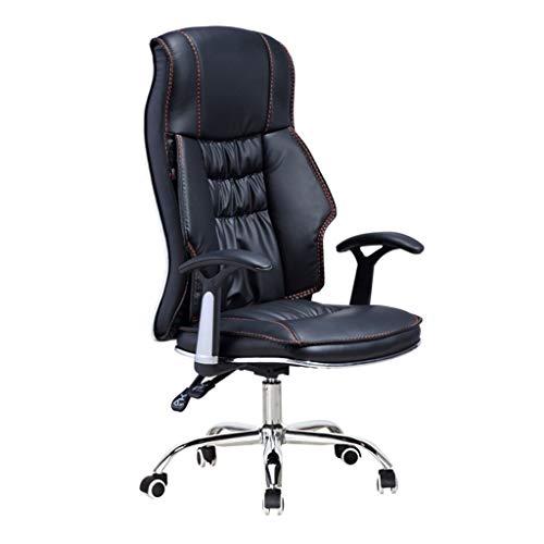 Boss Chair,Chaise Ergonomique en Cuir,Chaise pivotante pivotante,Design épais,Ajustable à l'avant et à l'arrière 150 °, Capacité de Charge 600 kg,Adapté aux employés de Bureau,Noir