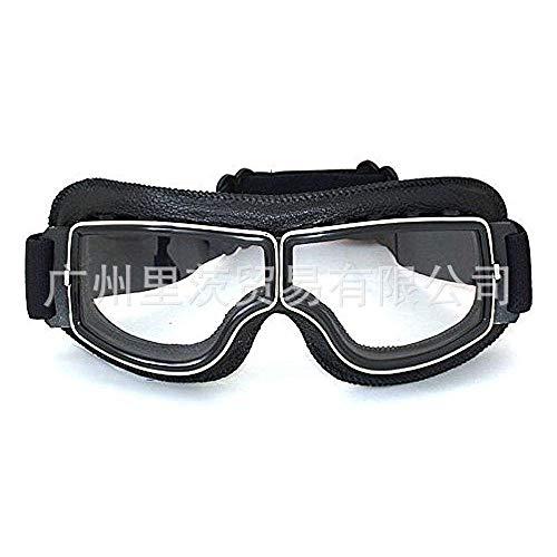 FIFY Harley-Brille Retro-Brille Harley-Motorradbrille winddichte Sandschutzbrille T13 schwarz-C