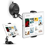 "AboveTEK Phone Tablet Stand Holder with Suction Cup Fits 4-11"", Large Sticky Pad Tablet Mount on Kitchen Desk Office Window Bathroom Mirror Car Truck Windshield, for iPhone 5 6 7 iPad Mini Air Pro"