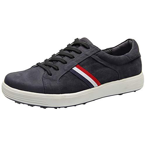 CGBF-Jungen Leder Golf Shoes Wasserdicht Anti-Skid Golfschuhe Leichte Zufällige Turnschuhe Outdoor Sportschuh für Kinder Mädchen,Blau,36 EUR/4.5 UK/5.5 USA