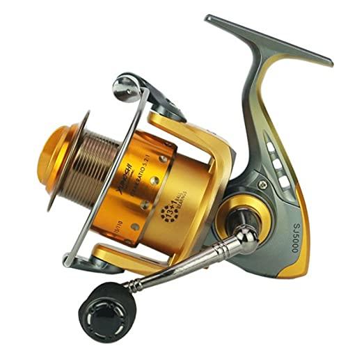 AIWKR Carrete de pesca, ultra suave, para carrete de agua dulce o salada, para pesca de agua dulce de agua salada, 2000, 3000, 4000, 5000, 6000, 7000