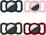 4 Stück Pet Silikon Schutzhülle für Airtags Einstellbare GPS Tracking H& Katze Zubehör Halsband Anti-Lost Locator Silikon Hülle Kompatibel Apple Air Tag zum Haustier Halsband Kinder Senioren Taschen