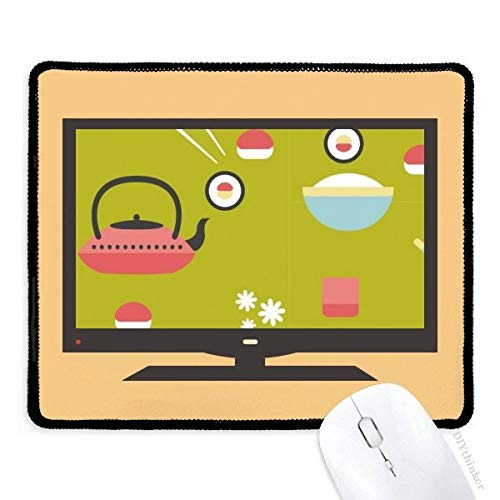 Rijst Theepot Cup Sushi Japan Computer Mouse Pad Antislip Rubber Mousepad Game Office