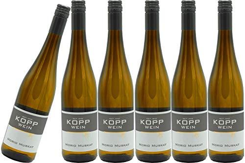 6 Flaschen 2019er Morio-Muskat Kabinett Weißwein lieblich 0,75l, direkt vom Erzeuger: Weingut Kopp in Ranschbach