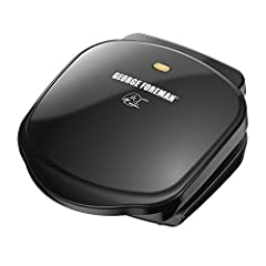 2 Servings - Tight on countertop space? This grill is your answer. It fits two servings of your grilled favorites, and it's perfect for small apartments and couples Classic Plate Grill - This is the original George Foreman Grill. The durable grill pl...